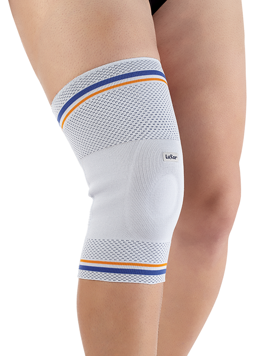 <p>Made of special knitting that have air-permable, flexiable and compressive features. Special silicone pad covers patella and helps stabilization.</p>
