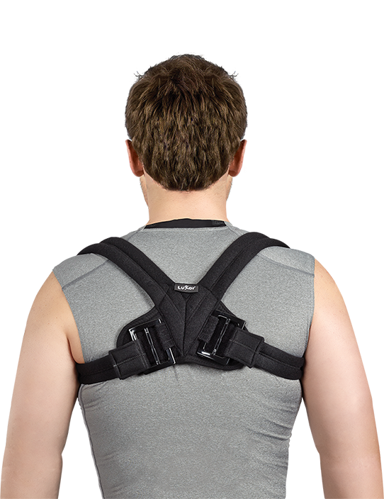 After clavicula fractures, it provides immobilization in shoulder