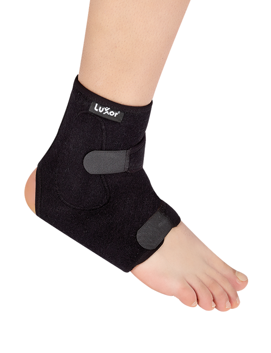 Contains polyethylene parts,supporting the lateral sides of the ankle. Used for the