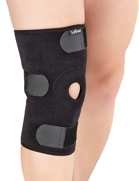 This support offers full circumference patellar control for chondromalacia,