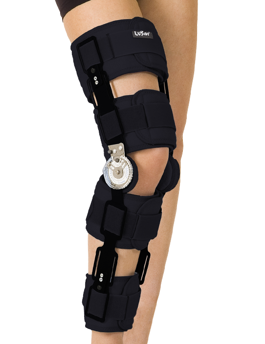 <p>Provides movement limitation when needed with its adjustable angle knee joint. Used when serious protection and control is necessary.</p>