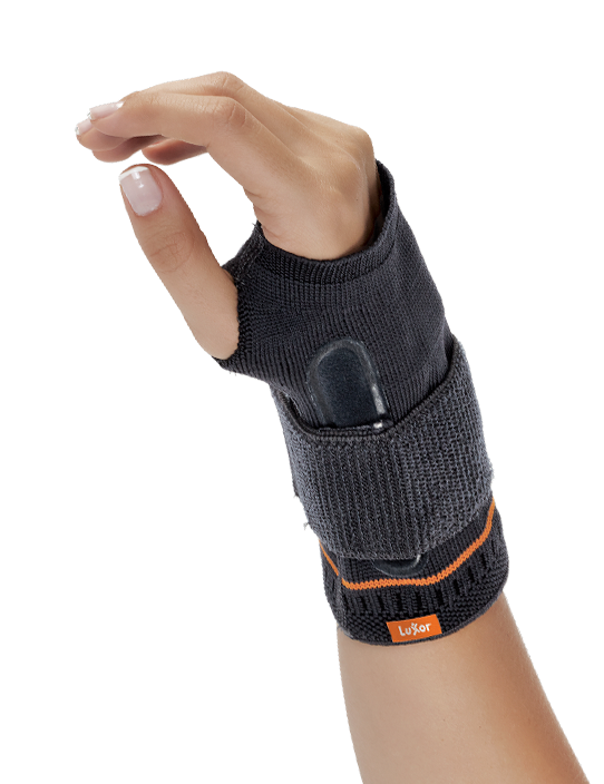 <p>Made of compressive, air-permeable and knitted fabric. Provides immobilisation to reduce pain in wrist. Limits the motion of wrist with its palmar aluminium.</p>