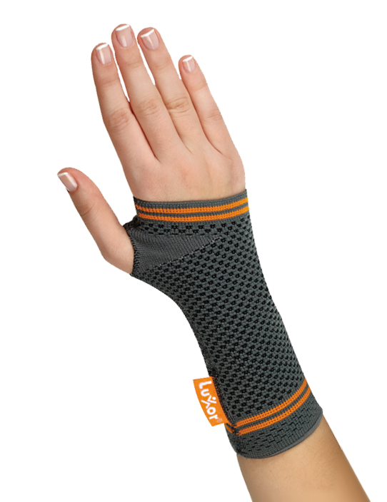 <p>Made of compressed, air-permeable and knitted fabric. Provides light immobilisation to reduce pain in wrist.</p>